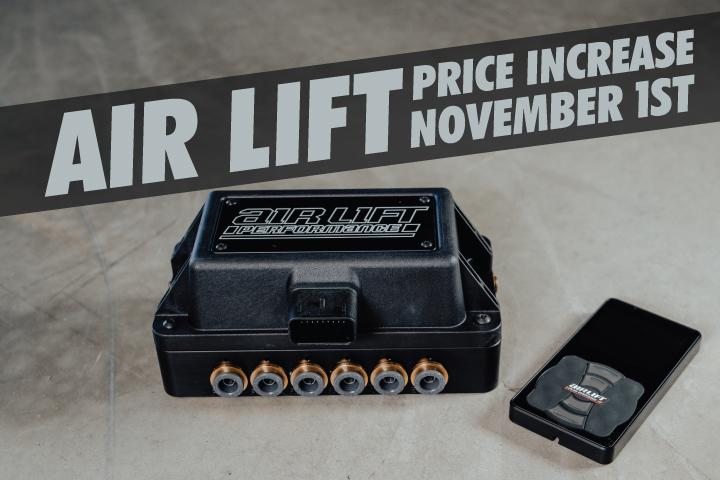 Air Lift Price Increase Incoming!