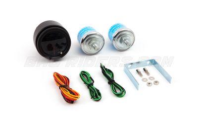 Glowshift Tinted Electronic Dual Needle Gauge